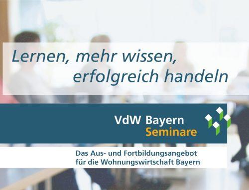 VdW Bayern Seminare – Halbjahresprogramm 2. 2021